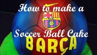 Watch me how i make a soccer ball cake of fc barcelona. templates: https://www.valentinas-sugarland.de/deutsch/anleitungen/
