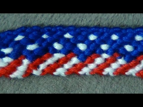 ► American Flag / 4th Of July -  Friendship Bracelet Tutorial