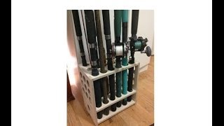 Diy Tutorial - Fishing Rod Rack