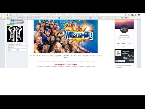 Wrestlemania 33 2017 Full show HD download  links  check it out