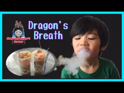 Dragon's Breath from Chocolate Chair Kids Blow Smoke Nitrogen Dessert | Liam and Taylor's Corner