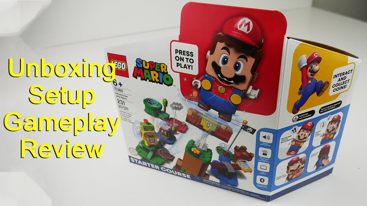 Lego Super Mario Starter Course - Unboxing, Setup, Gameplay and Review