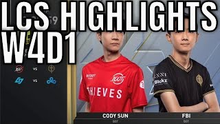 LCS Highlights ALL GAMES Week 4 Day 1 Summer 2020 - 100 vs GGS, CLG vs C9