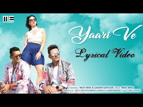 Yaari Ve  Lyrical Video  Meet Bros  Lauren Gottlieb  Prakriti Kakar  Adil Shaikh