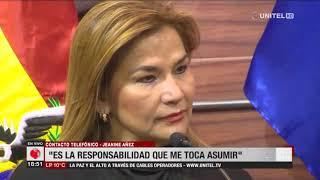 Jeanine Áñez, anunció que asumirá la presidencia de Bolivia