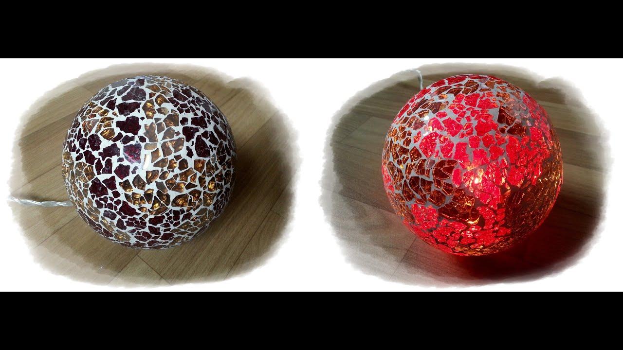 crackle mosaik lampe in gold rot miezi youtube. Black Bedroom Furniture Sets. Home Design Ideas