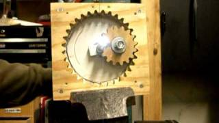 Rotary to linear motion with wooden gears
