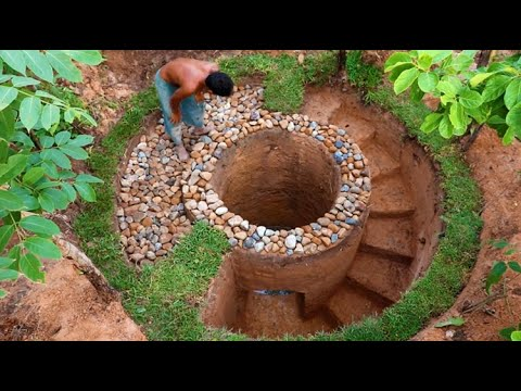 Creative Ideas Of Build Amazing Deep Tunnel Filter Water Well In Forest