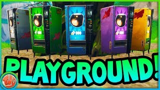 large PLAYGROUND UPDATE!! THIS IS THERE NEW!!! -Fortnite: Battle Royale
