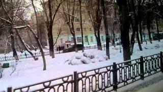 Киров. Октябрьский проспект из окна троллейбуса.