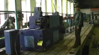 Работа правильно-отрезного автомата для арматуры(ОАО завод КПО