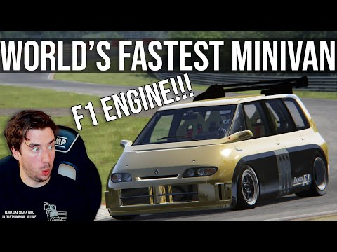 The Glorious Renault Espace F1 Takes On The Nordschleife