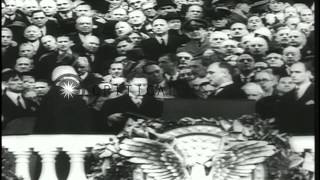 Franklin D Roosevelt as New York Governor, during presidential elections and with...HD Stock Footage