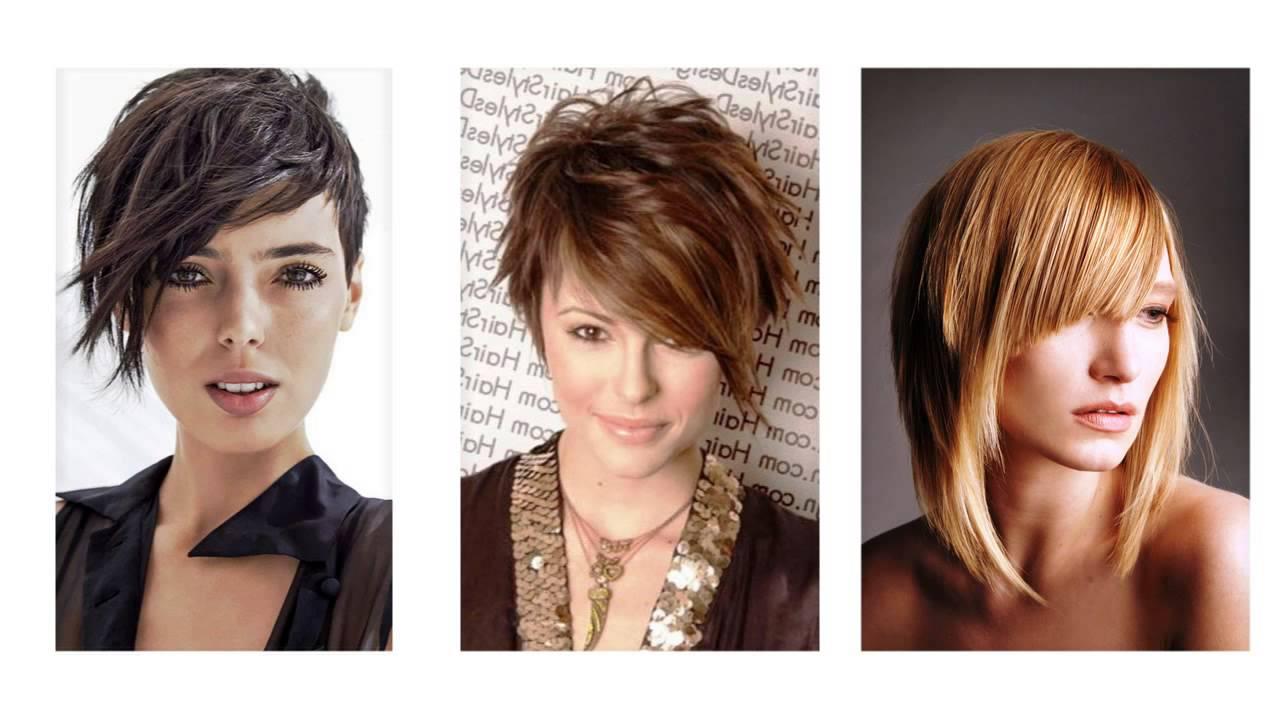 Corte de cabello asimetrico mujer
