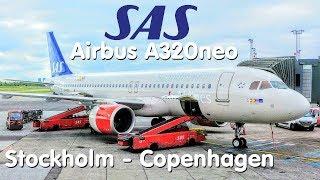 ✈TRIP REPORT | SAS Scandinavian Airlines (Economy) | A320neo | Stockholm - Copenhagen