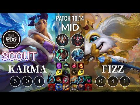 EDG Scout Karma vs Fizz Mid - KR Patch 10.14