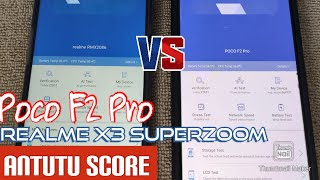 POCO F2 PRO VS REALME X3 SUPERZOOM ANTUTU BENCHMARK