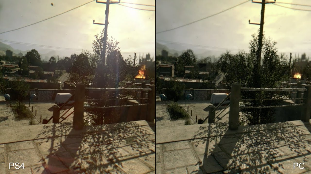Dying Light PS4 vs PC Comparison
