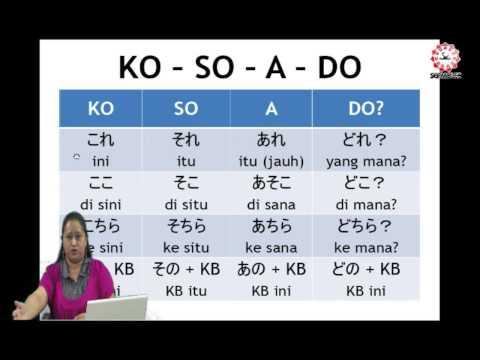 Bahasa Jepang Dasar   Bagian 1