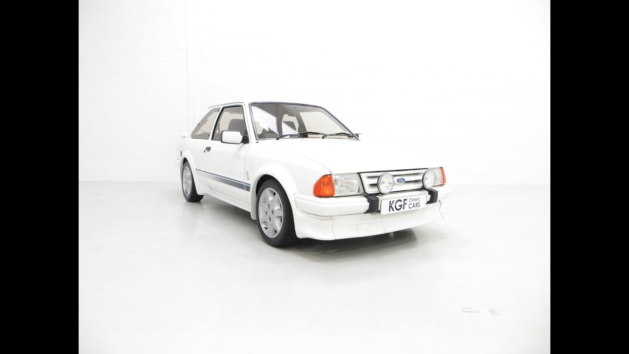 A Ford Escort Series 1 RS Turbo with 17,894 Miles and RSOC Concours Winner.  £49,995