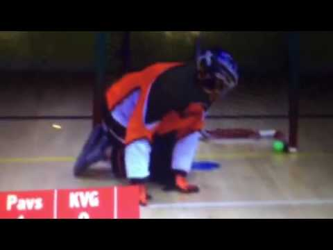 Pavel barber vs Kane van gate floor ball - YouTube