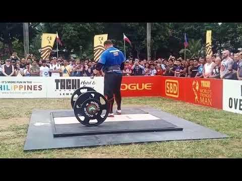 Zydrunas Savickas 200kg Clean and Press Attempt - WSM 2018 FInals