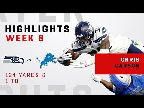 Chris Carson Highlights vs. Lions