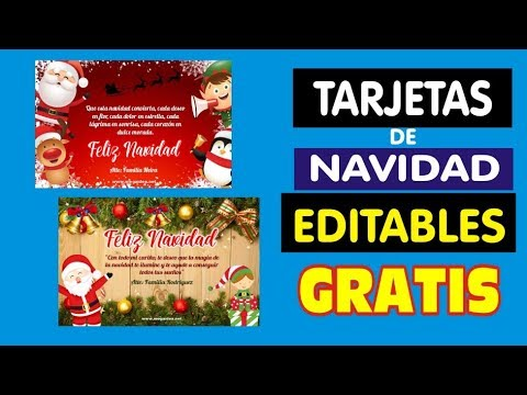 Como Hacer Tarjetas Para Navidad Gratis Descarga Tarjetas Navideñas Youtube