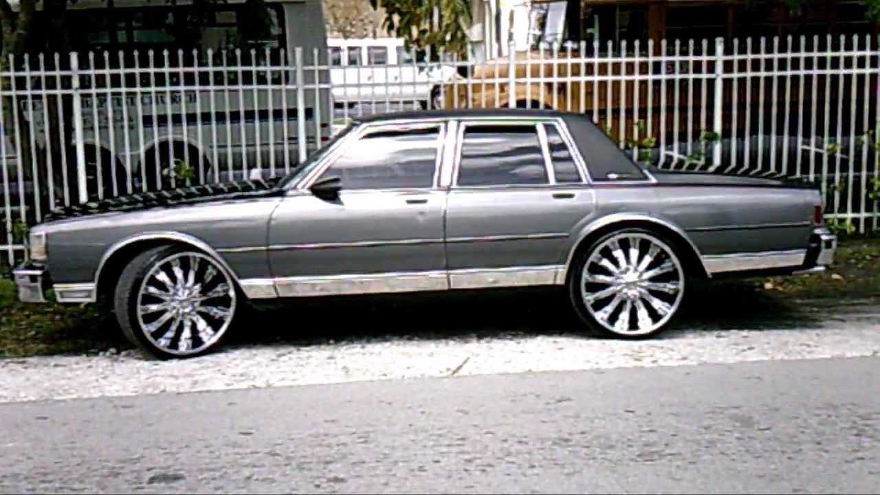 2012 Chevy Caprice >> (PiefacePresentWhips)4Door Box Chevy On 24's.AVI - YouTube