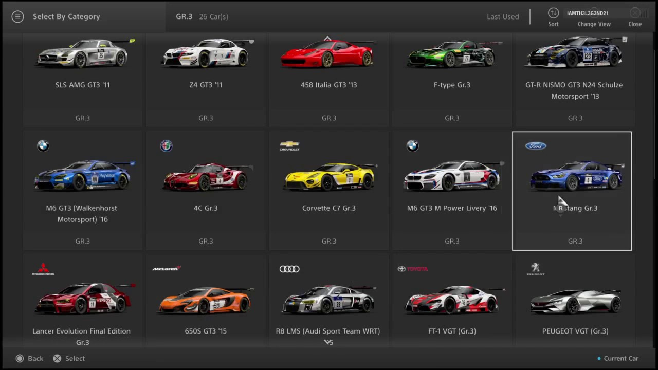 Gran Turismo Sport Closed Beta All Cars List