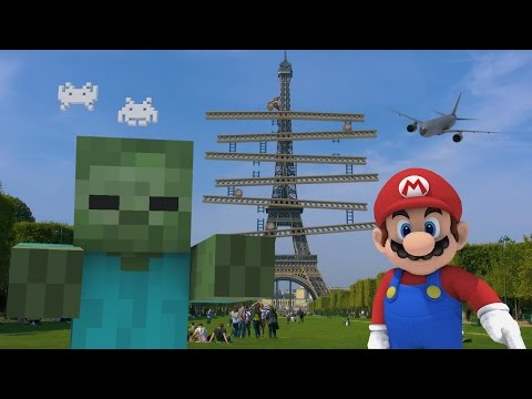 Minecraft and Mario Take Over The World