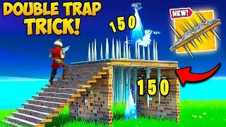 *EASY* DOUBLE TRAP TRICK IS UNFAIR!! - Fortnite Funny Fails and WTF Moments! #803