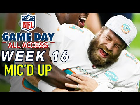 "NFL Week 16 Mic'd Up! ""I tried your water, I didn't know you were packing fruit punch!"" 