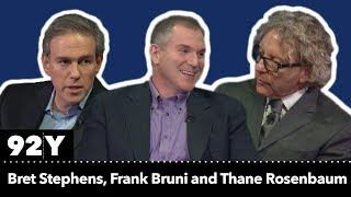 Bret Stephens and Frank Bruni with Thane Rosenbaum