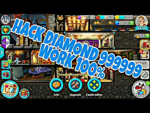 DIAMOND 999999 HUSTLE CASTLE : GAME GUARDIAN