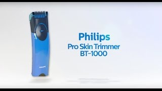 philips proskin trimmer bt 1000 clean every hair