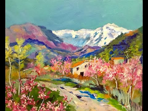 Painting an Italian Spring Landscape with Ginger Cook