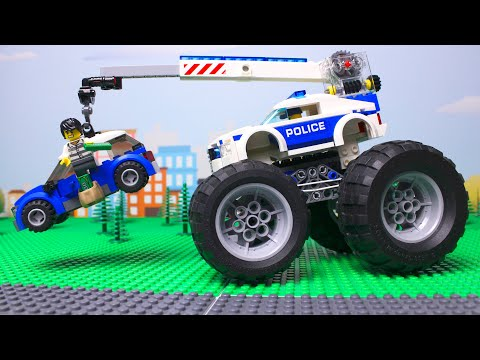 LEGO Cars And Trucks Experemental Police Car And Toy Tow Truck For Children