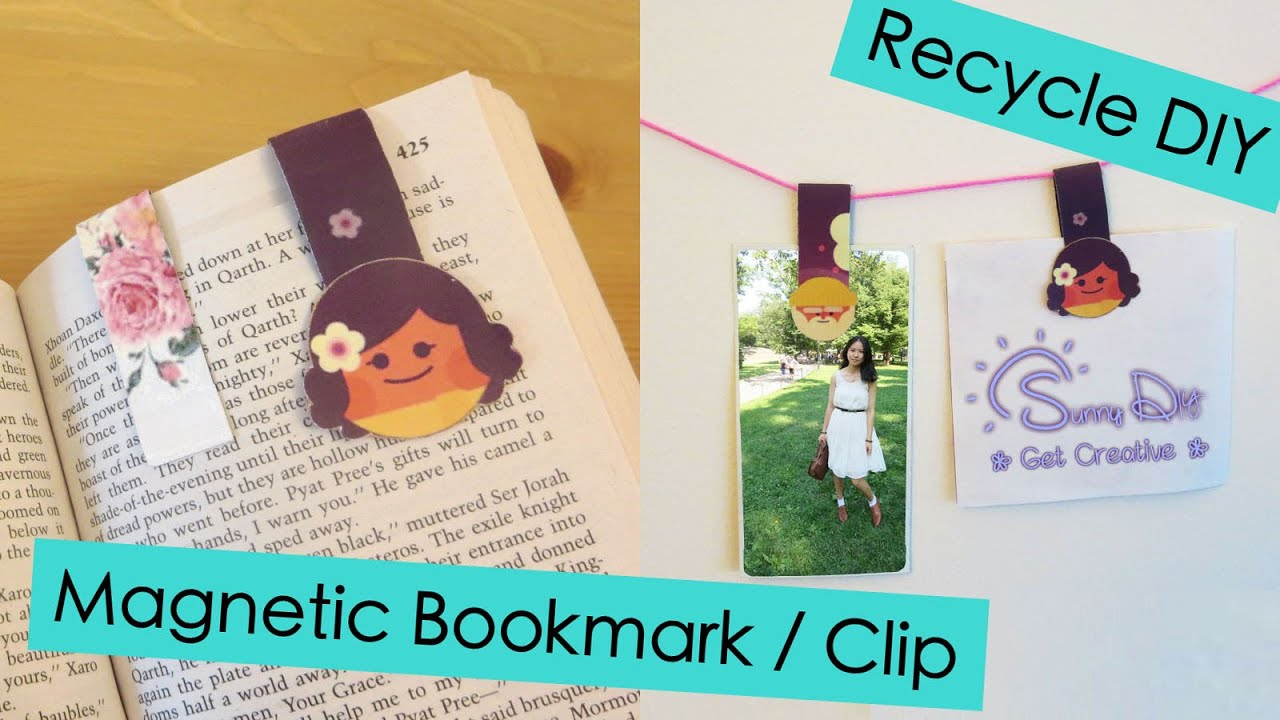 magnetic bookmark clip recycle diy sunny diy youtube