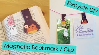 Magnetic Bookmark / Clip - Recycle DIY | Sunny DIY
