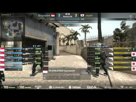 The World Championships 2015 Asian Qualifier | Singapore vs. Japan | (Map: Mirage)