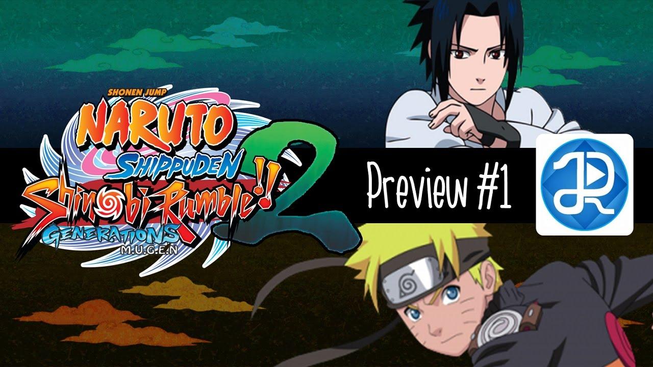 Naruto Shippuden Shinobi Rumble Generations 2 Mugen Preview 1 Youtube