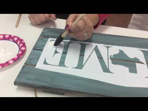 How to make a painted pallet sign