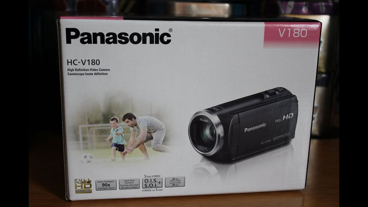panasonic hc v180 hd camcorder unboxing video testing youtube. Black Bedroom Furniture Sets. Home Design Ideas