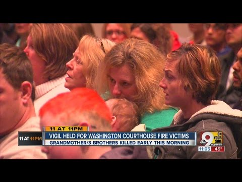 Vigil held for Washington Courthouse fire victims