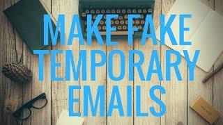 كيفية إنشاء بريد إلكتروني مؤقت [المتاح/وهمية البريد الإلكتروني] | J. SriCharan موهان