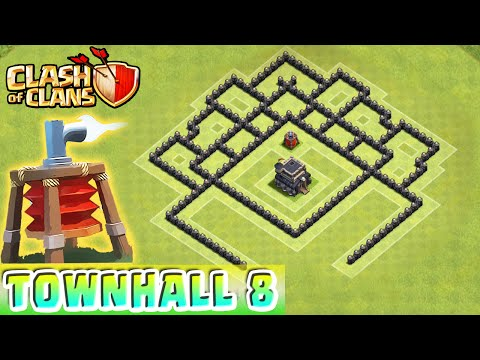 Clash of Clans - AIR SWEEPER DEFENSE STRATEGY - Townhall Level 8 Hybrid (TH8 Defense Strategy)