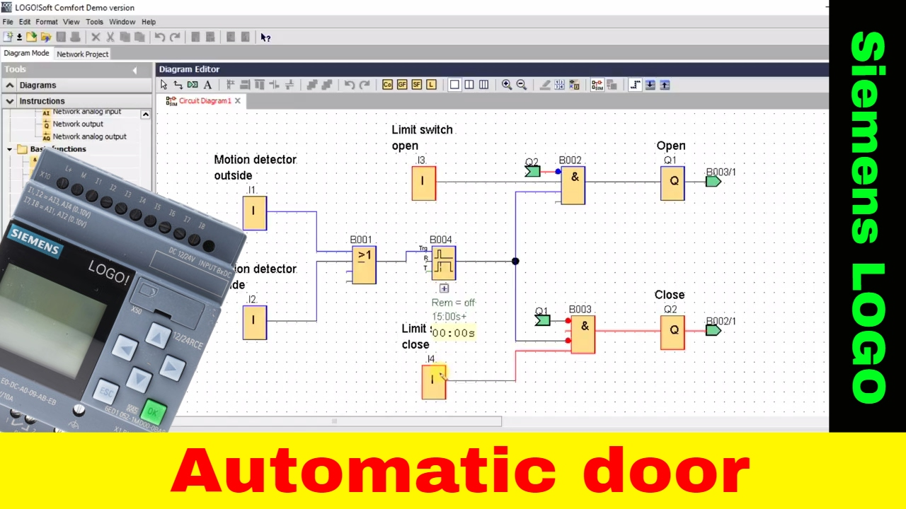 Automatic Door Siemens Logo Tutorial Lad Fbd Plc Tutorial