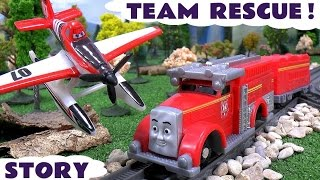 Thomas and Friends Flynn and Disney Planes Dusty Rescue Episode | Thomas Y Sus Amigos Story