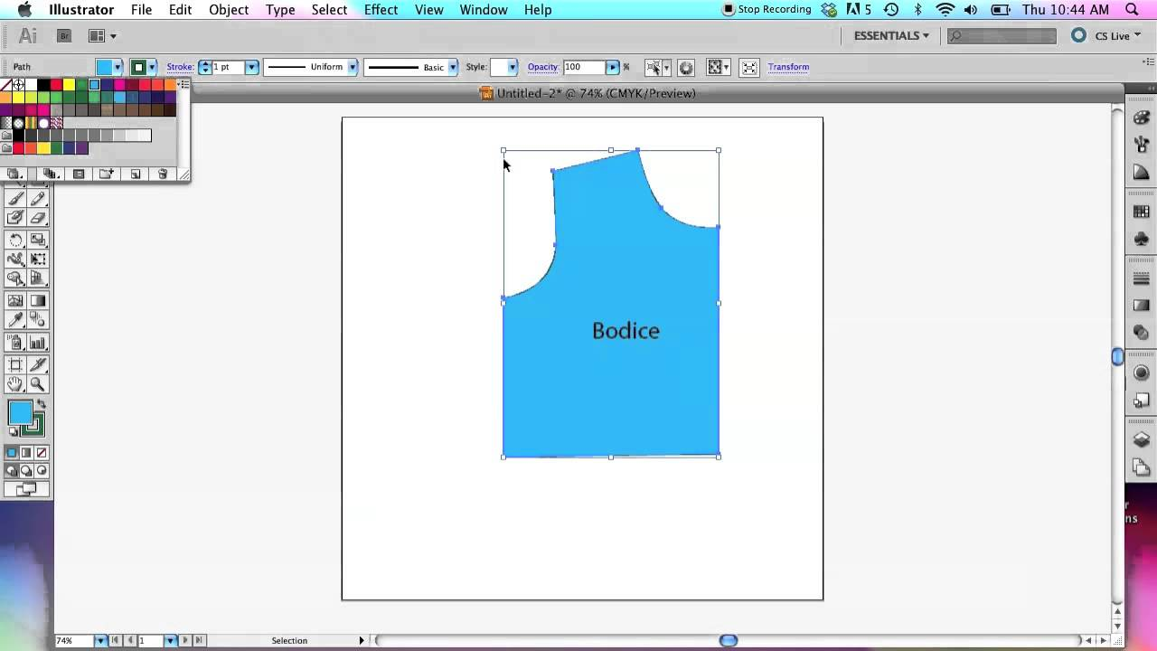 How To Use Adobe Illustrator To Create Sewing Patterns  Basic Tools   Youtube
